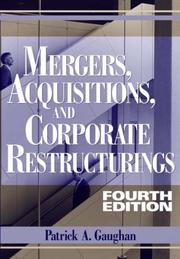 Cover of: Mergers, Acquisitions, and Corporate Restructurings | Patrick A. Gaughan