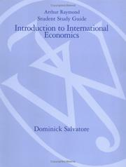Cover of: Introduction to International Economics, Study Guide | Dominick Salvatore
