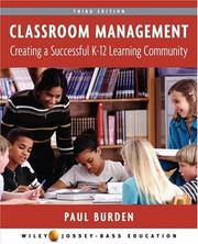 Cover of: Classroom Management | Paul Burden