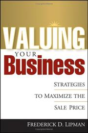 Cover of: Valuing Your Business  | Frederick D. Lipman