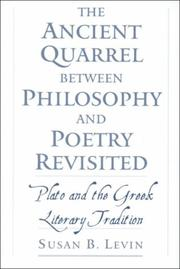 Cover of: The ancient quarrel between philosophy and poetry revisited