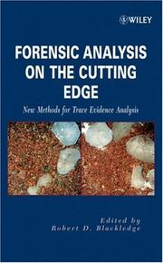 Cover of: Forensic Analysis on the Cutting Edge | Robert D. Blackledge