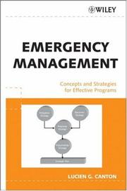 Cover of: Emergency Management
