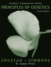 Cover of: Principles of Genetics, Student Companion Guide