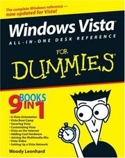 Cover of: Windows Vista All-in-One Desk Reference For Dummies