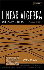 Cover of: Linear Algebra and Its Applications