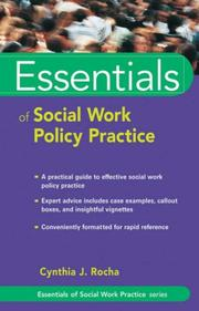 Cover of: Essentials of Social Work Policy Practice (Essentials of Social Work) | Cynthia J. Rocha