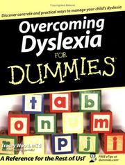 Cover of: Overcoming Dyslexia For Dummies (For Dummies (Health & Fitness)) | Tracey Wood