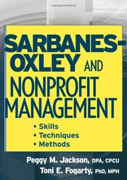 Cover of: Sarbanes-Oxley and nonprofit management