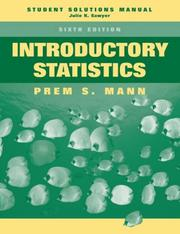 Cover of: Introductory Statistics, Student Solutions Manual | Prem S. Mann
