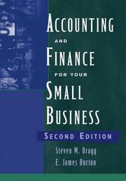 Cover of: Accounting and Finance for Your Small Business
