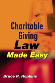 Cover of: Charitable Giving Law Made Easy