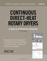 Cover of: AIChE equipment testing procedure | American Institute of Chemical Engineers.