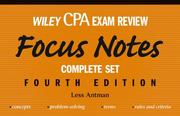 Cover of: Wiley CPA Examination Review Set | Less Antman