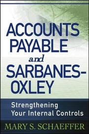 Cover of: Accounts payable and Sarbanes-Oxley