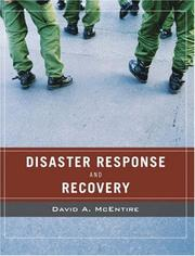 Cover of: Wiley Pathways Disaster Response and Recovery | David A. McEntire