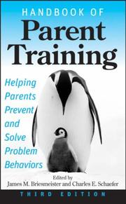 Cover of: Handbook of Parent Training |