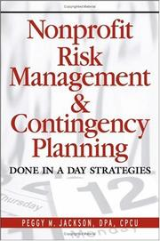 Cover of: Nonprofit Risk Management & Contingency Planning