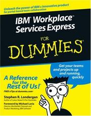 Cover of: IBM Workplace Services Express For Dummies | Stephen R. Londergan