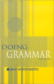 Cover of: Doing grammar
