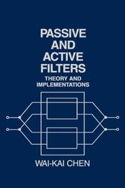 Cover of: Passive and active filters: theory and implementations