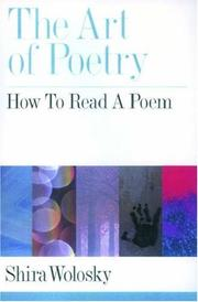 Cover of: The art of poetry | Shira Wolosky