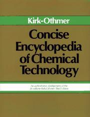 Cover of: Concise Encyclopedia of Chemical Technology