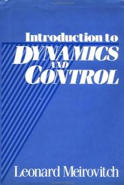Cover of: Introduction to dynamics and control | Leonard Meirovitch