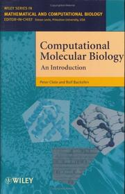 Cover of: Computational molecular biology by