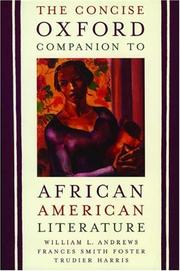 Cover of: The concise Oxford companion to African American literature
