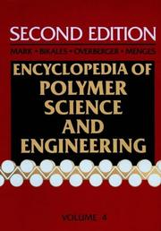 Cover of: Encyclopedia of Polymer Science and Engineering, Volume 4 |