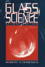 Cover of: Glass science | R. H. Doremus