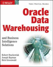 Cover of: Oracle Data Warehousing and Business Intelligence Solutions