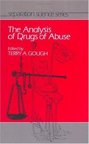 Cover of: Analysis of drugs of abuse |