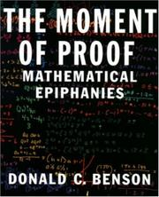 Cover of: The Moment of Proof | Donald C. Benson