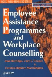Cover of: Employee assistance programmes and workplace counselling