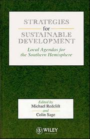 Cover of: Strategies for sustainable development |