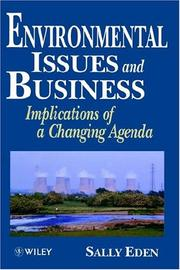 Cover of: Environmental issues and business