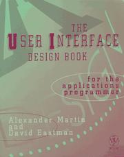 Cover of: The user interface design book for the applications programmer
