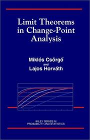Cover of: Limit theorems in change-point analysis