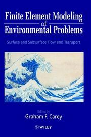 Cover of: Finite Element Modeling of Environmental Problems