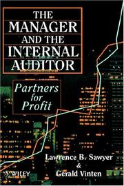 Cover of: The manager and the internal auditor