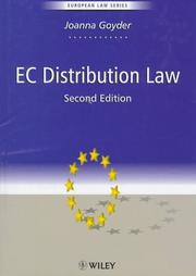 Cover of: EC Distribution Law
