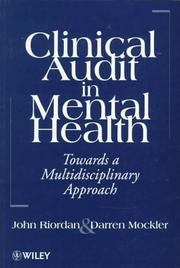 Cover of: Clinical audit in mental health | John Riordan