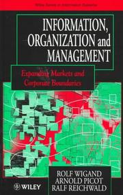 Cover of: Information, organization, and management