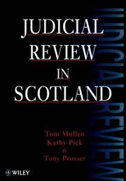 Cover of: Judicial review in Scotland
