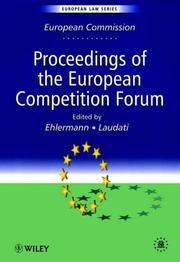 Cover of: Proceedings of the European Competition Forum