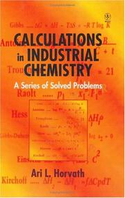 Cover of: Calculations in industrial chemistry