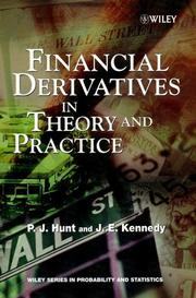 Cover of: Financial Derivatives in Theory and Practice | P. J. Hunt