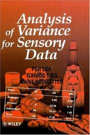 Cover of: Analysis of variance for sensory data